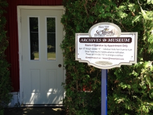 Sign at Archive Entrance