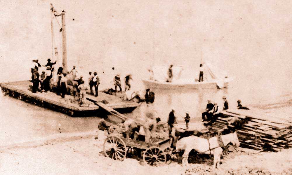 Wharf Construction 1897